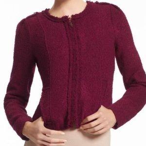 CAbi Britt Boucle ZIP Up Jacket Style #530 size 4
